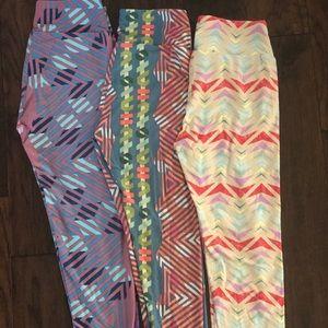 LuLaRoe Leggings - 3 pairs One Size